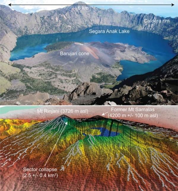 Rinjani Volcano Eruption