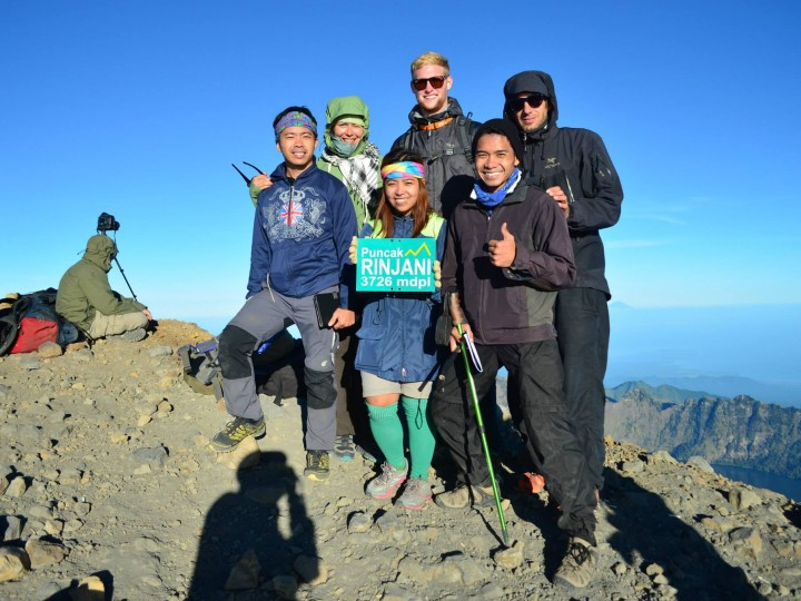 Rinjani Trekking with Philippines Group