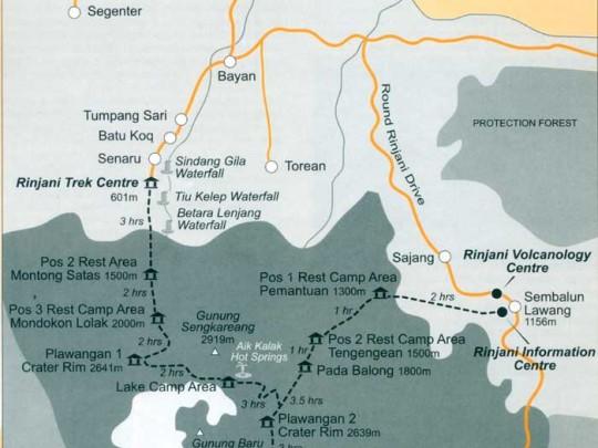 Rinjani Trekking Maps