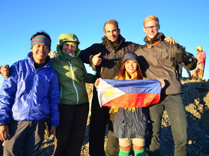 Trekking to Rinjani Mountain with Philippines Group
